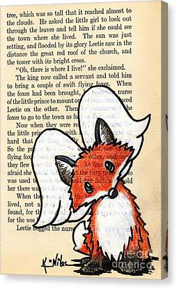 Winged Fox Canvas Print by Kim Niles