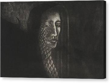 Winged Medusa Canvas Print by Pati Hays