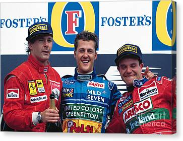 Winners. 1994 Pacific Grand Prix Canvas Print by Oleg Konin