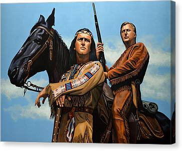 Winnetou And Old Shatterhand Canvas Print by Paul Meijering