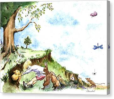 Helping Hands After E H Shepard Canvas Print by Maria Hunt