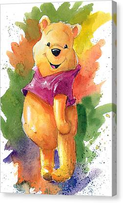 Winnie The Pooh Canvas Print by Andrew Fling