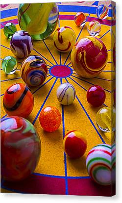 Winning At Marbles Canvas Print by Garry Gay