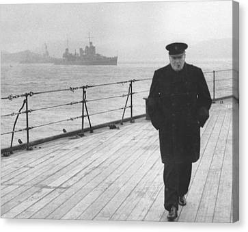 Winston Churchill Canvas Print by English Photographer