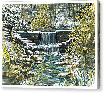 Winter At Iargo Springs Canvas Print by Robin  Pelton