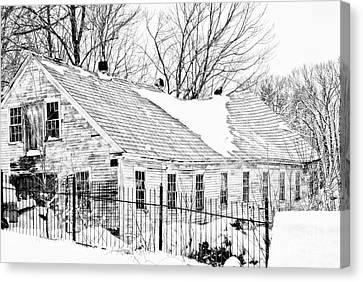 Winter Barn Canvas Print by Marcia Lee Jones