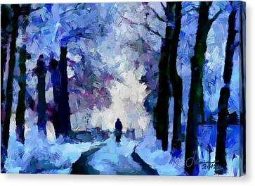 Winter Blues Tnm Canvas Print by Vincent DiNovici