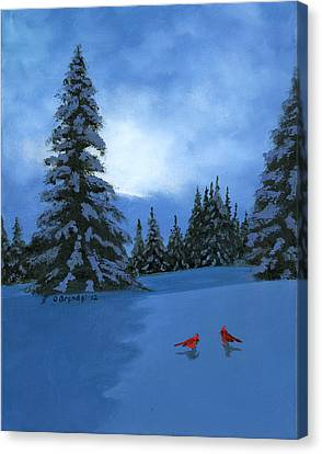 Winter Christmas Card 2012 Canvas Print by Cecilia Brendel