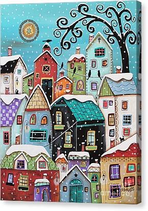 Winter City Canvas Print by Karla Gerard