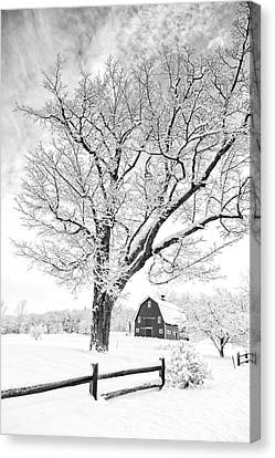 Winter Comes To The Upper Valley Canvas Print by Edward Fielding
