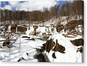 Winter Day Canvas Print by John Rizzuto