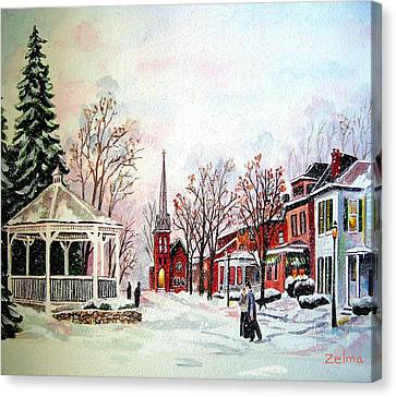 Winter Days Of Old Canvas Print by Zelma Hensel