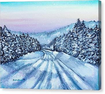 Winter Drive Canvas Print by Shana Rowe Jackson