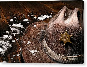 Winter Duty Canvas Print by Olivier Le Queinec