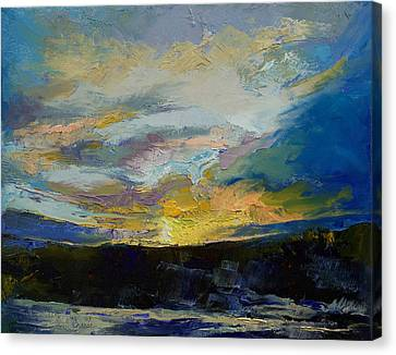 Winter Sunset Canvas Print by Michael Creese