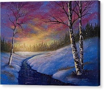 Winter Flurries Canvas Print by C Steele