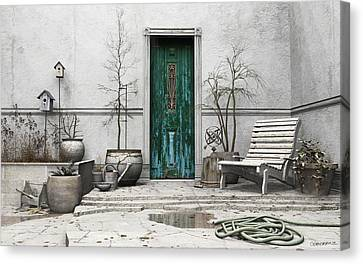 Winter Garden Canvas Print by Cynthia Decker