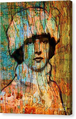 Winter Girl Variation 1 Canvas Print by Judy Wood