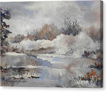 Winter Impressions Canvas Print by Suzanne Schaefer