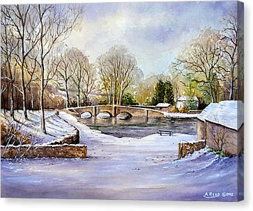 Winter In Ashford Canvas Print by Andrew Read