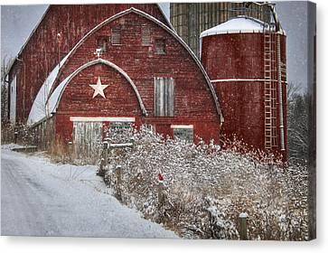 Winter In Bradford County Canvas Print by Lori Deiter