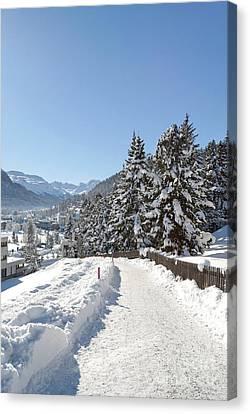 Winter In Switzerland Canvas Print by Design Windmill