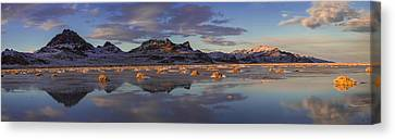 Winter In The Salt Flats Canvas Print by Chad Dutson