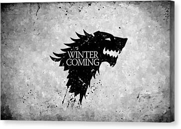 Winter Is Coming Canvas Print by Florian Rodarte