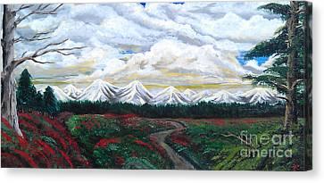 Winter On The Horizon.  Canvas Print by Erik Coryell