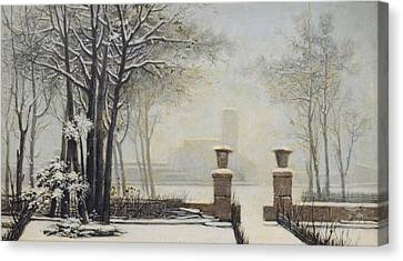 Winter Landscape Canvas Print by Alessandro Guardassoni