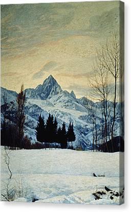 Winter Landscape Canvas Print by Matteo Olivero