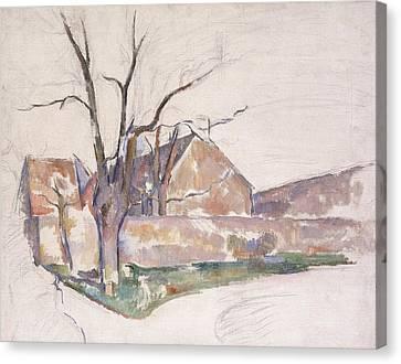 Winter Landscape Canvas Print by Paul Cezanne