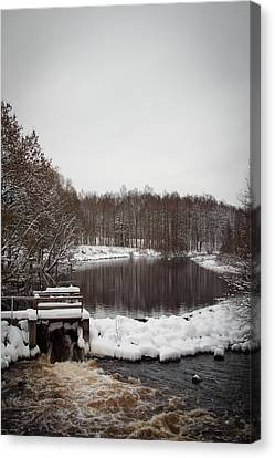 Winter Landscape Canvas Print by Robert Hellstrom