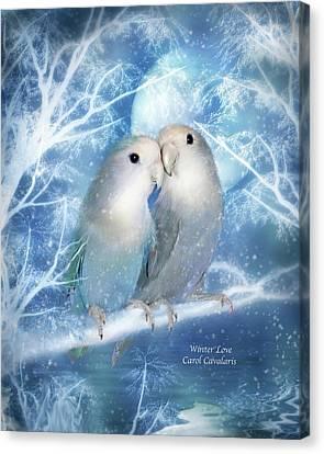 Winter Love Canvas Print by Carol Cavalaris