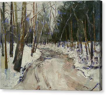 Winter Creek Canvas Print by Michael Creese