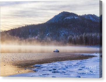 Winter Mist Canvas Print by Anthony Bonafede