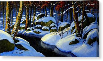 Winter Morning Light Canvas Print by Frank Wilson