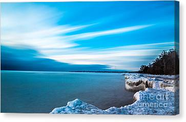 Winter Morning Rush Canvas Print by Andrew Slater
