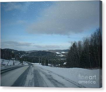 Winter Norhtern Maine Canvas Print by Kristine Bailey