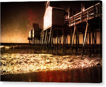 Winter Old Orchard Beach Canvas Print by Bob Orsillo