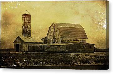 Winter On The Farm Canvas Print by Dan Sproul