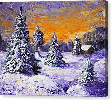 Winter Outlook Canvas Print by Anastasiya Malakhova