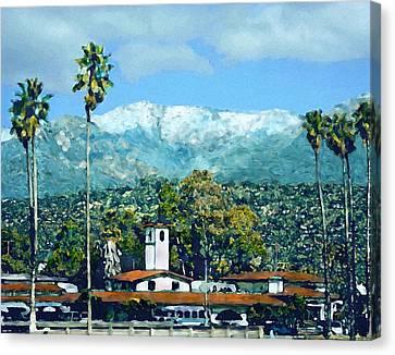 Winter Paradise Santa Barbara Canvas Print by Kurt Van Wagner