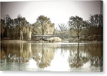 Winter Reflection Landscape Canvas Print by Julie Palencia