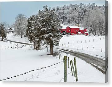 Winter Road Canvas Print by Bill Wakeley