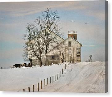 Winter Roads Canvas Print by Lori Deiter