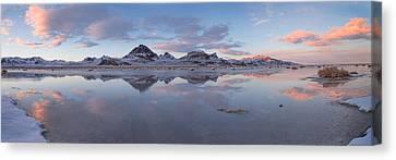 Winter Salt Flats Canvas Print by Chad Dutson