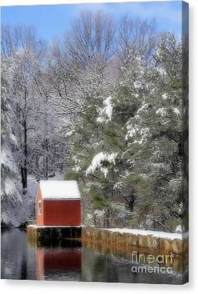 Winter Scene  Canvas Print by Karol Livote