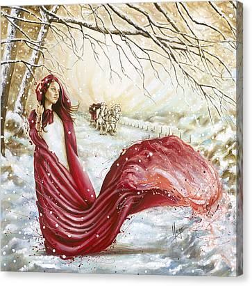 Winter Scent Canvas Print by Karina Llergo