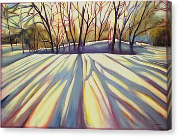 Winter Shadows Canvas Print by Sheila Diemert